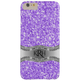 Lavender Purple Trendy Glitter Texture Print Barely There iPhone 6 Plus Case
