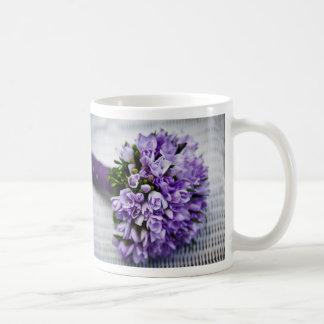 Lavender Purple Tulip Wedding Bouquet Basic White Mug