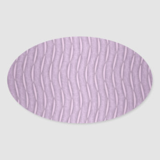 Lavender Purple Wavy Modern Stripes Oval Sticker