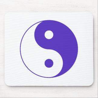 Lavender Purple Yin-Yang Mouse Pad