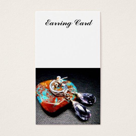 Lavender Quartz Stone Earring Card