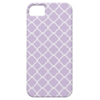 Lavender Quatrefoil Barely There iPhone 5 Case