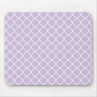 Lavender Quatrefoil Mouse Mat