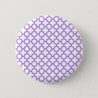 Lavender Quatrefoil Pattern 6 Cm Round Badge