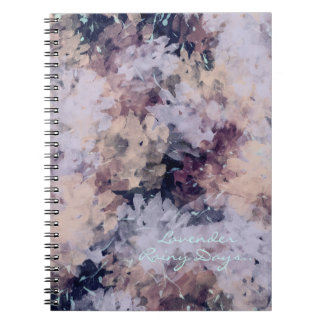 'Lavender Rainy Days' Notebook