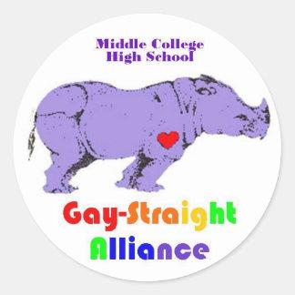 Lavender Rhino Classic Round Sticker