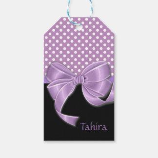 Lavender Ribbon and Polka Dots