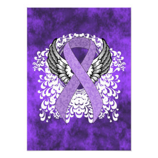 Lavender Ribbon with Wings Photo Print