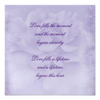 Lavender Rose 13 Cm X 13 Cm Square Invitation Card