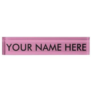 LAVENDER ROSE (a solid rosy pink color) ~ Desk Nameplate