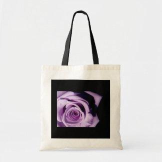 Lavender rose tote bags