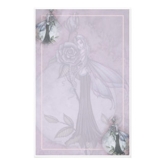 Lavender Rose Fairy Stationary by Molly Harrison Stationery