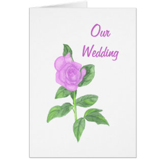 Lavender Rose,  Our Wedding Invitations Cards