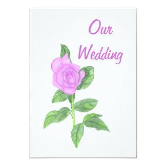 Lavender Rose Painting, Custom Wedding Invitations