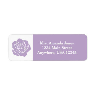 Lavender Rose | Personalized Return Address Label