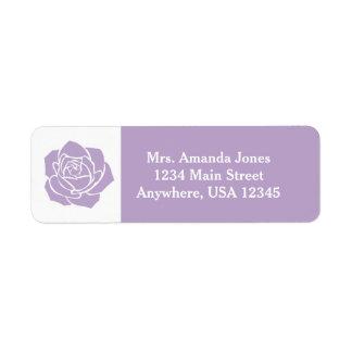 Lavender Rose   Personalized Return Address Label