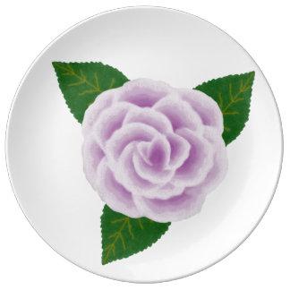 Lavender Rose Porcelain Plate