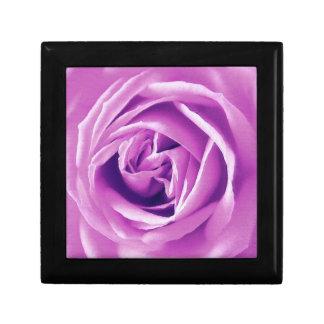Lavender rose print small square gift box