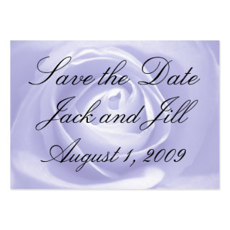 Lavender Rose, Save the Date Pack Of Chubby Business Cards