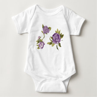 Lavender Rose Shabby Chic Baby Bodysuit