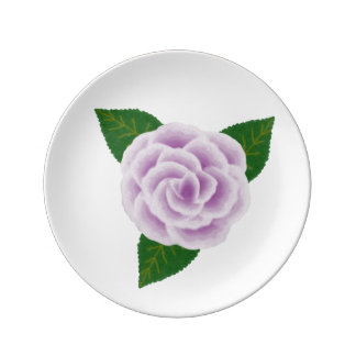 Lavender Rose Small Porcelain Plate