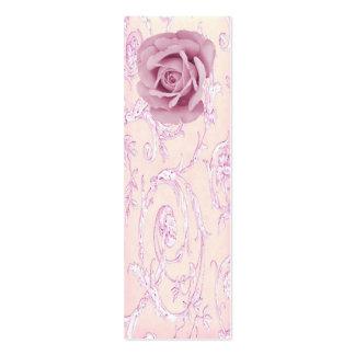 Lavender rose toile back vintage business card