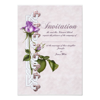 Lavender Rose Wedding Suite 13 Cm X 18 Cm Invitation Card