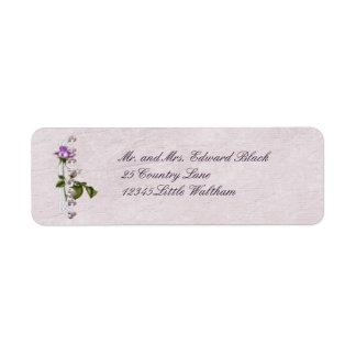 Lavender Rose Wedding Suite Return Address Label
