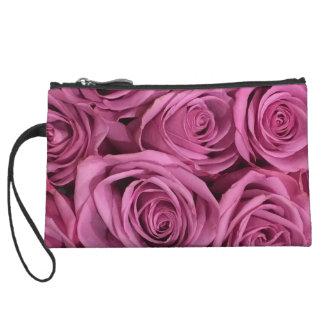 Lavender Rose Wristlet mini Purse