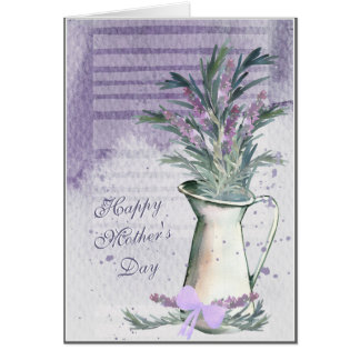 Lavender & Rosemary Watercolor Mother's Day Card