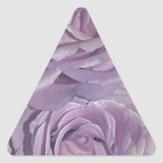 Lavender Roses collection Triangle Sticker