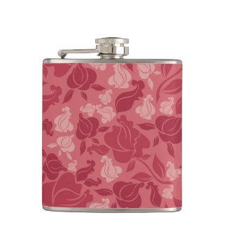 Lavender Roses Hip Flasks