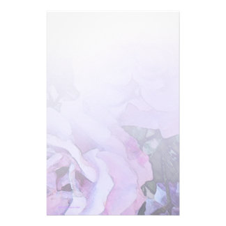 Lavender Roses Light Stationery
