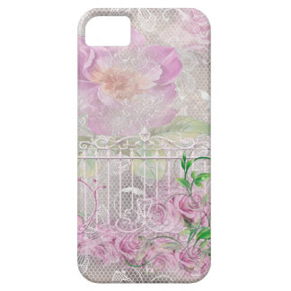 Lavender Roses White Garden Gate Toule iPhone 5 Covers