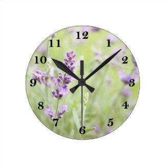 Lavender Round Clock