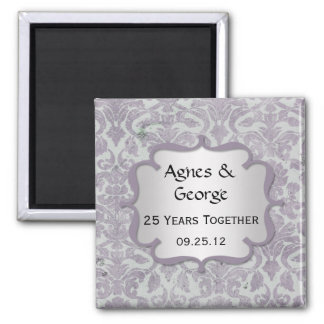 Lavender Silver 25th Anniversary Magnet
