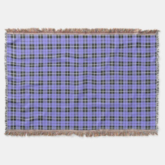 lavender sky light blue white/black stripe throw blanket