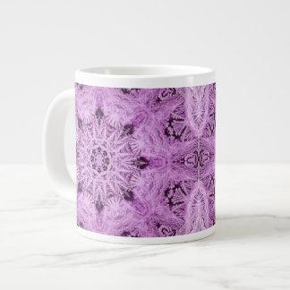 Lavender Snowflake Jumbo Mug 20 Oz Large Ceramic Coffee Mug