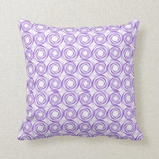Lavender Spiral Vortex Pillow