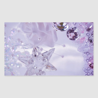 """""""Lavender Star and Crystals"""" collection Rectangular Sticker"""