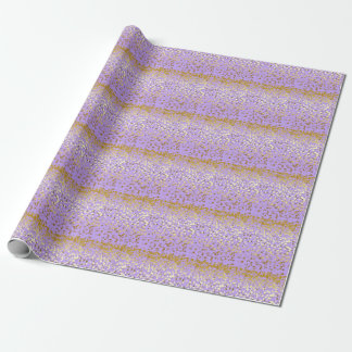 Lavender Star Stripes Wrapping Paper