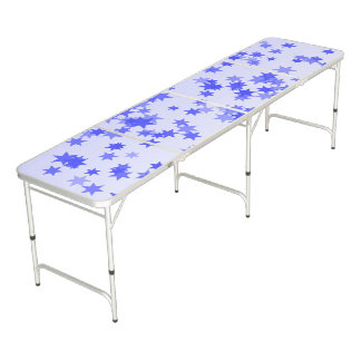Lavender Stars Beer Pong Table