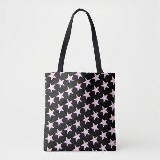 Lavender Stars Tote Bag
