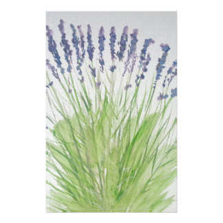 Lavender Stationery