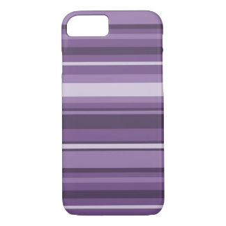 Lavender stripes iPhone 7 case