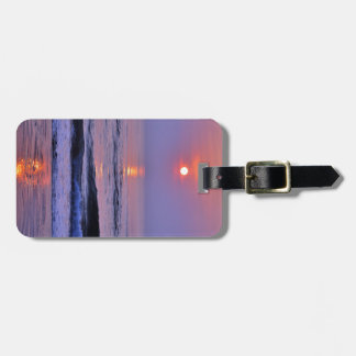 Lavender sun luggage tag
