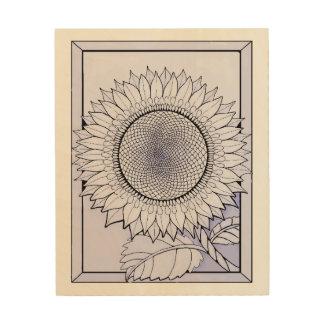 Lavender Sunflower Wood Wall Decor