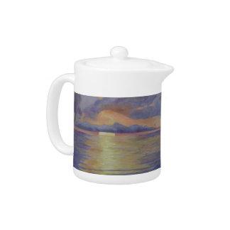 Lavender Sunrise Teapot