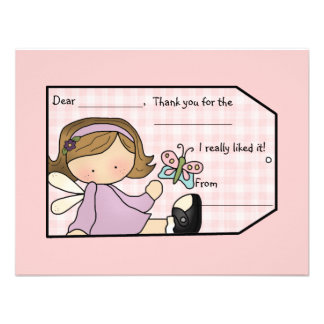 Lavender Sweetie Thank You Card Custom Invites