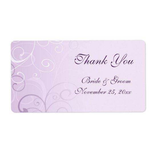 Lavender Swirls Wedding Labels